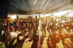 Classe de yoga de festival Images libres de droits