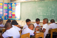 Classe della scuola elementare in Tailandia Fotografia Stock Libera da Diritti