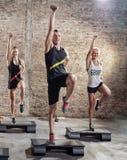 Classe di aerobica Fotografia Stock