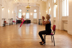Classe di dancing Immagini Stock