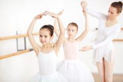 Classe di dancing di balletto Immagine Stock