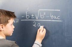 Classe di per la matematica Fotografie Stock