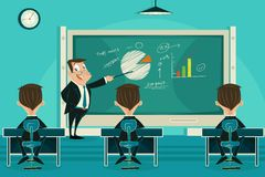Classe di presentazione di affari Immagini Stock Libere da Diritti
