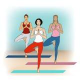 Classe di yoga ENV, JPG Immagine Stock Libera da Diritti