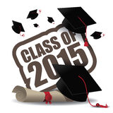 Classe do projeto 2015 da graduação Fotografia de Stock