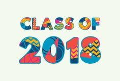 Classe du concept 2018 Word Art Illustration illustration stock