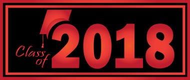 Classe du noir 2018 rouge Photos libres de droits