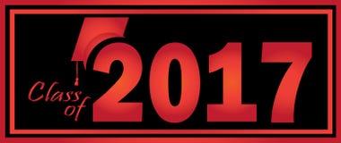 Classe du noir 2017 rouge Image stock
