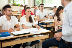 Classe durante la conferenza Immagine Stock