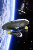 Classe e estação espacial da besta de Starship ilustração stock