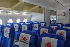 Classe economica Inte di China Southern Airlines Boeing 787 Dreamliner immagine stock
