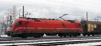 Classe eslovena das estradas de ferro 541-0, Jesenice Fotografia de Stock