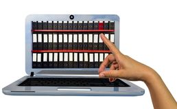 Classe le rendu en ligne numérique de l'écran 3d d'ordinateur portable Photos libres de droits