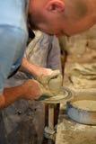 Classe mestra no castelo de Kamenetz-Podolsk da cerâmica 1º de maio de 2012 dentro, Foto de Stock Royalty Free
