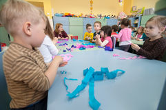 Classe roumaine de jardin d'enfants Photo libre de droits