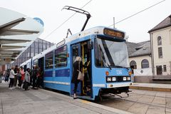 Classe SL79 do bonde de Oslo imagens de stock