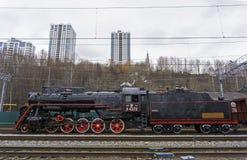 Classe soviética de funcionamento L locomotiva de vapor foto de stock
