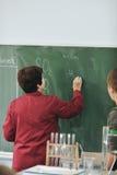 Classees de la ciencia y de la química en la escuela Fotografía de archivo