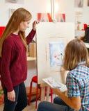 Classes in art school Stock Images