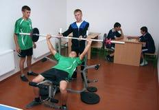 Classes d'éducation physique Photo libre de droits