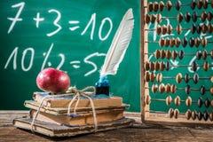 Classes da matemática na escola primária Imagens de Stock