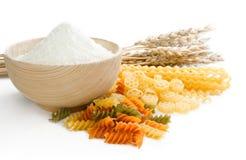 Classes diferentes das orelhas da pasta, da farinha e do trigo Foto de Stock