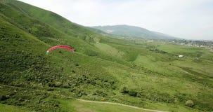 Classes do parapente Tiro de um zang?o, do ar paragliding filme