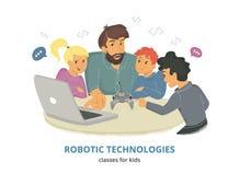 Classes robotiques de technologies pour des enfants Photos stock