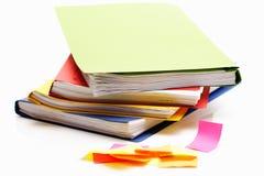 Classeurs et notes colorés Image libre de droits