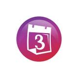 Classez avec l'icône du numéro 3 Images libres de droits