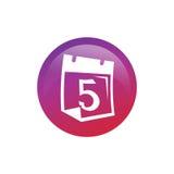 Classez avec l'icône du numéro 5 Image libre de droits