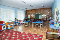 Classez le jardin d'enfants, classe à l'école primaire, playschool Photos libres de droits