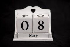 Classez les cubes huitième le mai, 8, 8ème Photo libre de droits