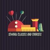 Classi e corsi di cucito Immagini Stock Libere da Diritti