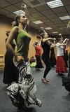 """Classi nel corridoio di ballo del centro """"La Merced """"di arte di flamenco a Cadice immagini stock libere da diritti"""