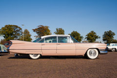 Classic 1959 Cadillac Sedan De Ville. ROSMALEN, THE NETHERLANDS - OCTOBER 15: A 1959 Cadillac Sedan De Ville is shown at the Rock Around the Jukebox event on royalty free stock photo