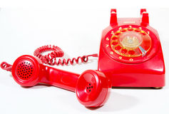 Classic 1970 - 1980 retro dial style red house tel Stock Image