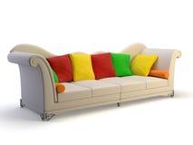 Classic 3d sofa Stock Images
