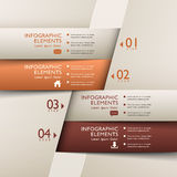 Classic abstract 3d origami paper infographics. Classic abstract 3d origami paper infographic elements Stock Photography
