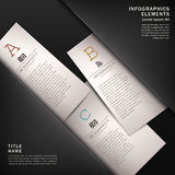 Classic abstract 3d paper infographics Royalty Free Stock Images