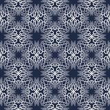 Classic abstract vintage monoline patterns with gradient on dark blue background.  Royalty Free Stock Photography