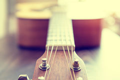 Classic acoustic guitar Royalty Free Stock Photos