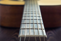 Classic acoustic guitar Stock Image