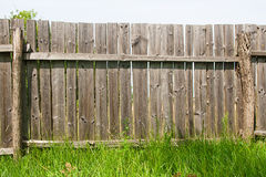 Classic aged wooden fence as a background texture Stock Image