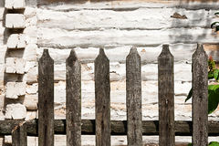 Classic aged wooden fence  as a background texture Royalty Free Stock Images