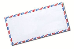 Classic air mail envelope isolated Royalty Free Stock Photo