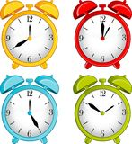 Classic alarm clock on background Stock Photography