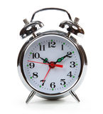 Classic alarm clock isolated on white Royalty Free Stock Photo