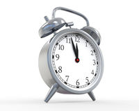 Classic Alarm Clock Isolated on White Background Royalty Free Stock Photography