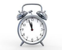 Classic Alarm Clock Isolated on White Background. 3d render Stock Photos